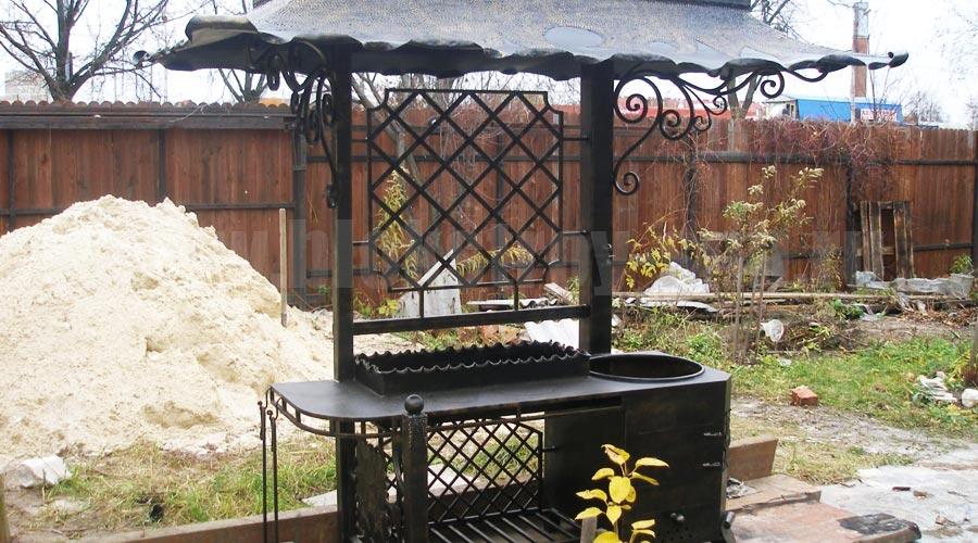 Кованные садовые барбекю свиные стейки на барбекю