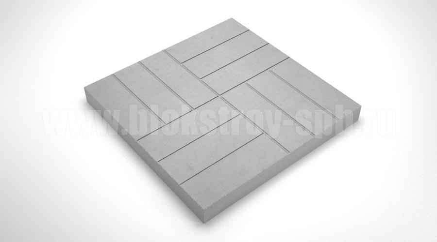 Тротуарная плитка «12 кирпичей» серая