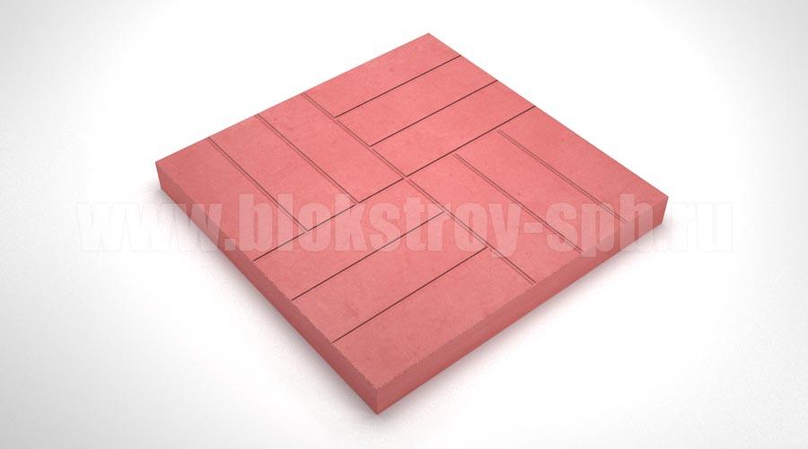 """Тротуарная плитка """"12 кирпичей"""" красная"""