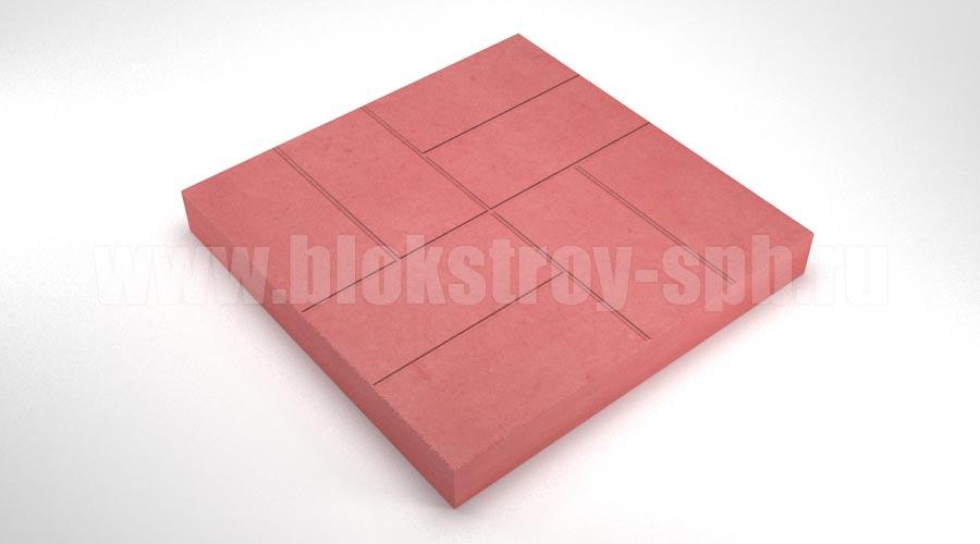 """Тротуарная плитка """"8 кирпичей"""" красная"""