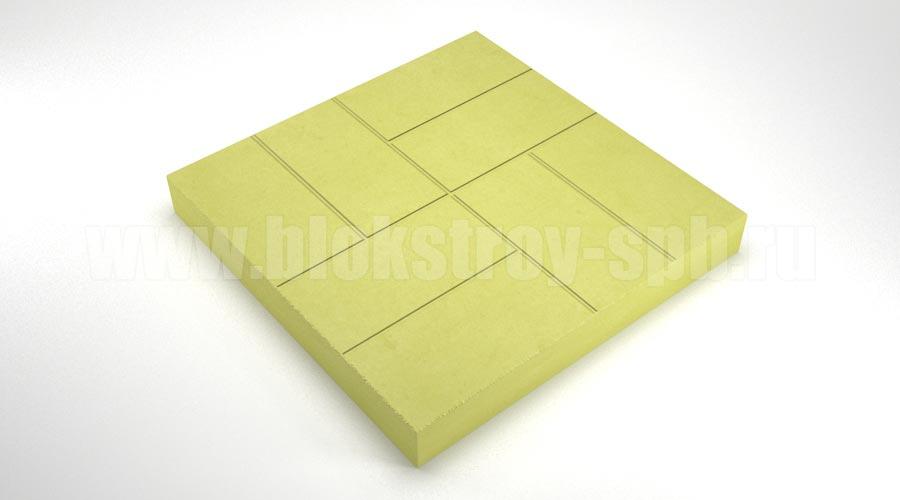 """Тротуарная плитка """"8 кирпичей"""" желтая"""