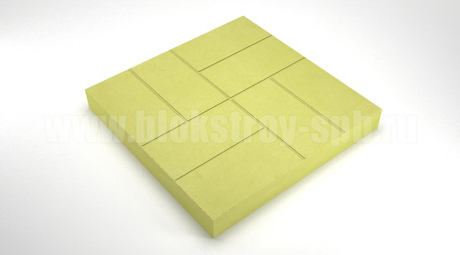 Тротуарная плитка «8 кирпичей» желтая