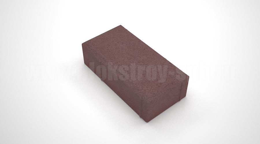 Тротуарная плитка брусчатка вибропрессованная коричневая
