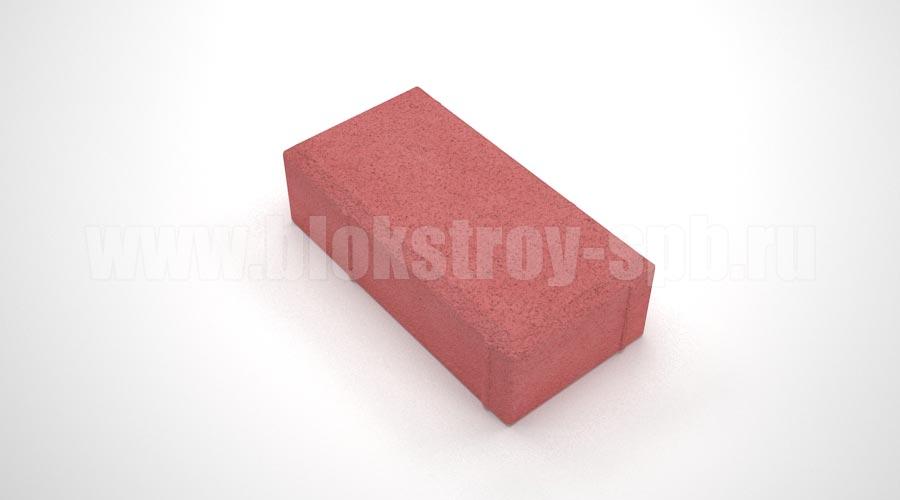 Тротуарная плитка брусчатка вибропрессованная красная