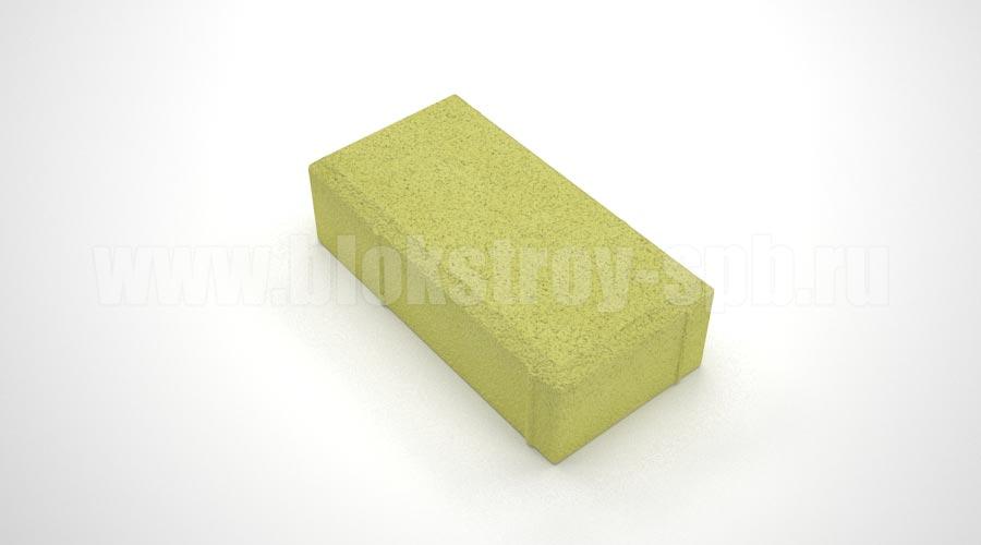 Тротуарная плитка брусчатка вибропрессованная желтая