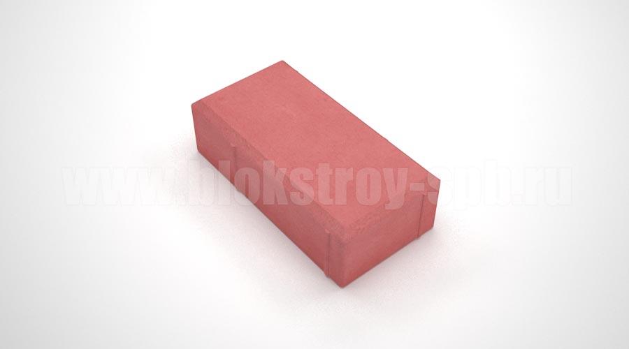Брусчатка вибролитая красная