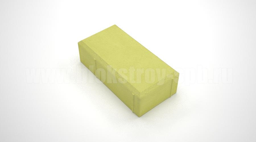 Брусчатка вибролитая желтая