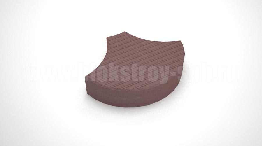 """Тротуарная плитка """"Чешуя"""" коричневая"""