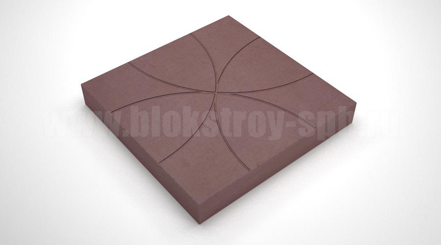 """Тротуарная плитка """"Цветок"""" коричневая"""