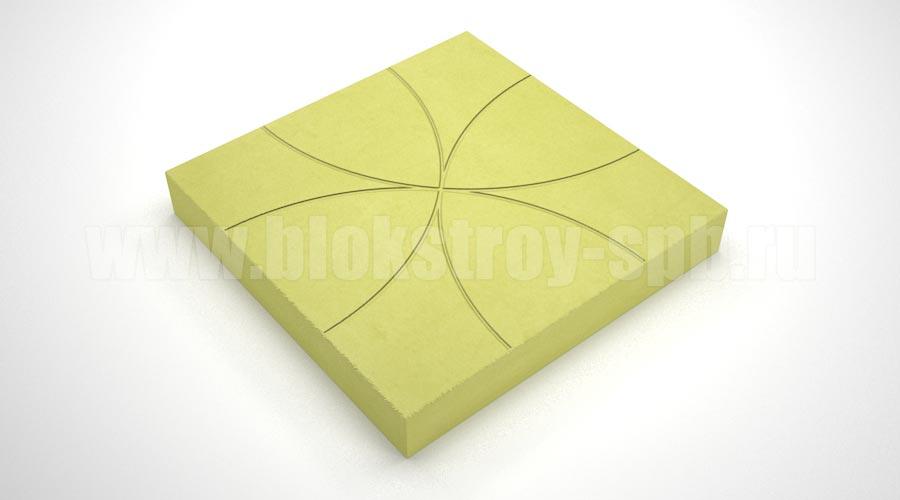 "Тротуарная плитка ""Цветок"" желтая"