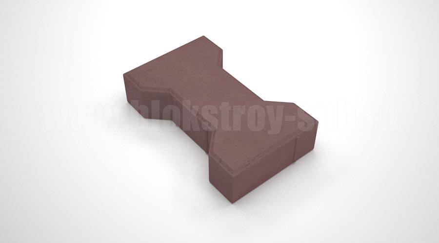 """Тротуарная плитка """"Катушка"""" коричневая"""