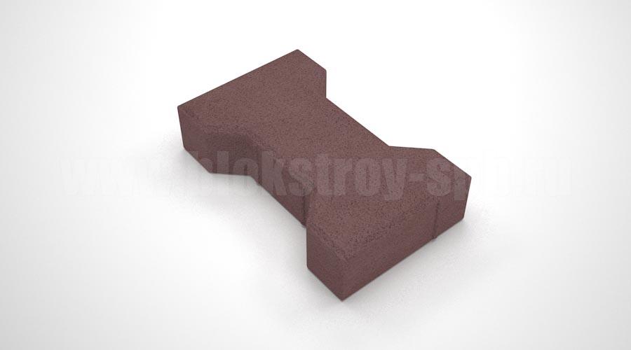 Тротуарная плитка «Катушка вибропрессованная» коричневая