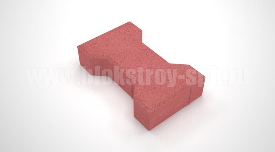 Тротуарная плитка «Катушка вибропрессованная» красная