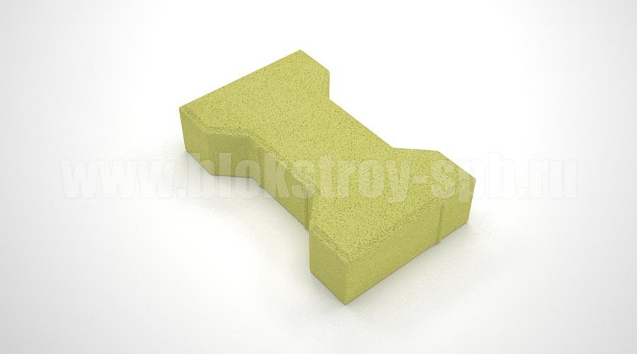 Тротуарная плитка «Катушка вибропрессованная» желтая