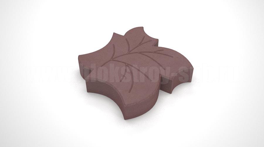 Тротуарная плитка «Клен» коричневая
