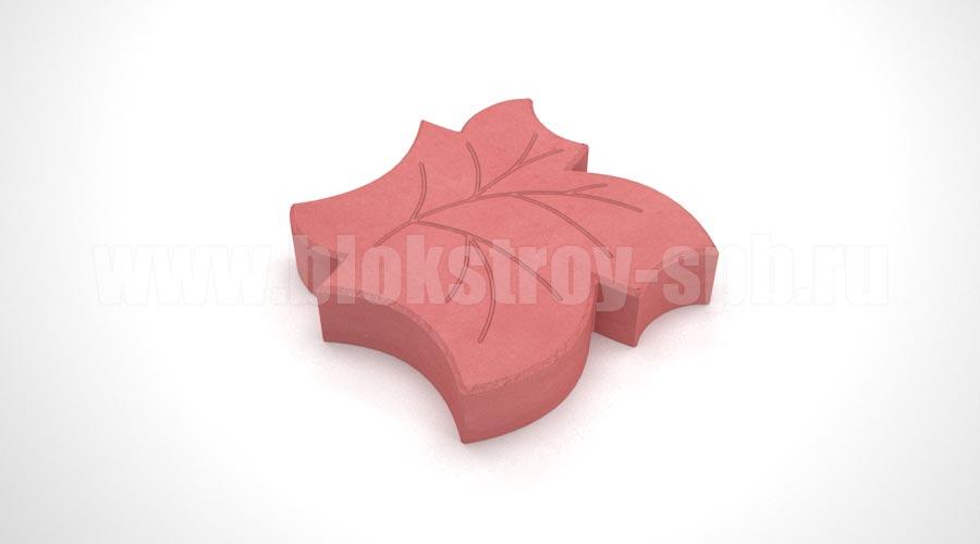 Тротуарная плитка «Клен» красная