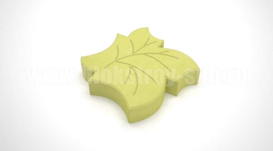 Тротуарная плитка «Клен» желтая