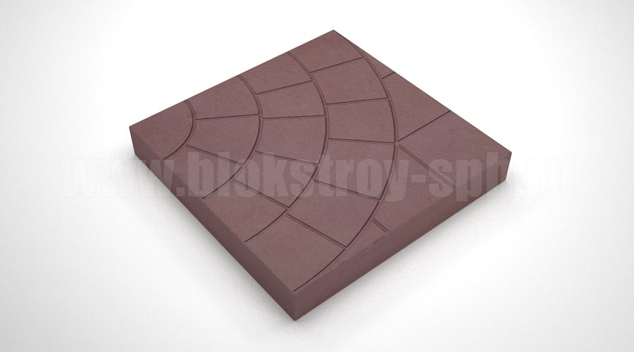 """Тротуарная плитка """"Паутина-35"""" коричневая"""