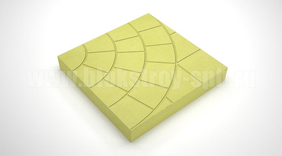 "Тротуарная плитка ""Паутина-35"" желтая"