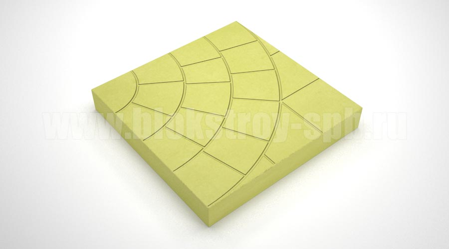 Тротуарная плитка «Паутина 35» желтая