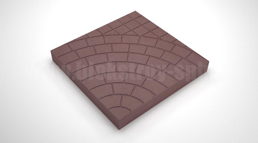 Тротуарная плитка «Паутина 40» коричневая