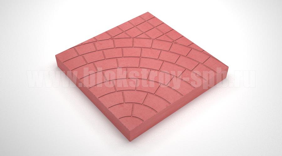 Тротуарная плитка «Паутина 40» красная