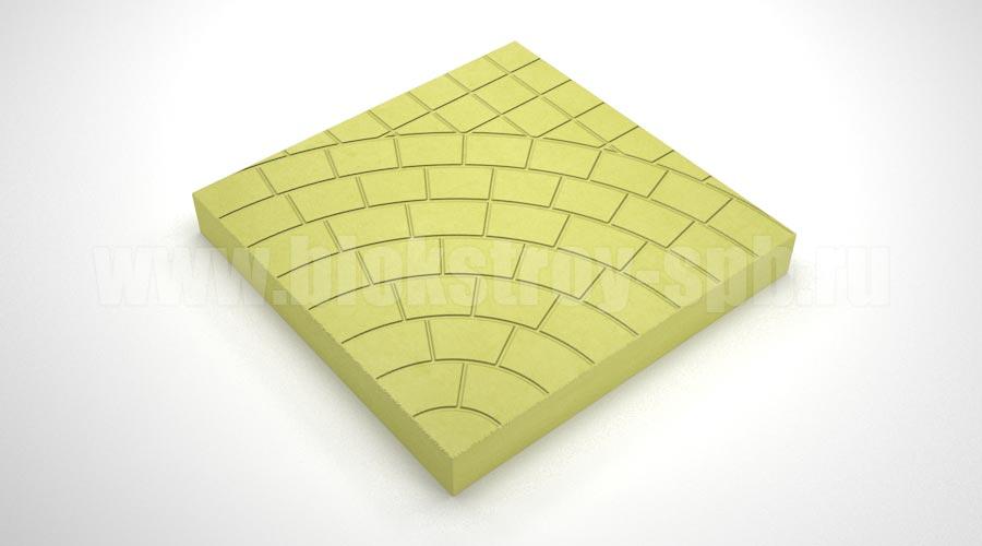 Тротуарная плитка «Паутина 40» желтая