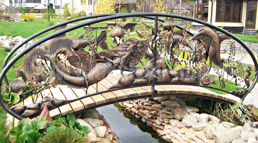 """кованый мостик """"морские обитатели"""""""