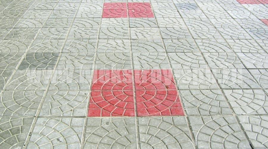 площадка мощеная плиткой паутина-35