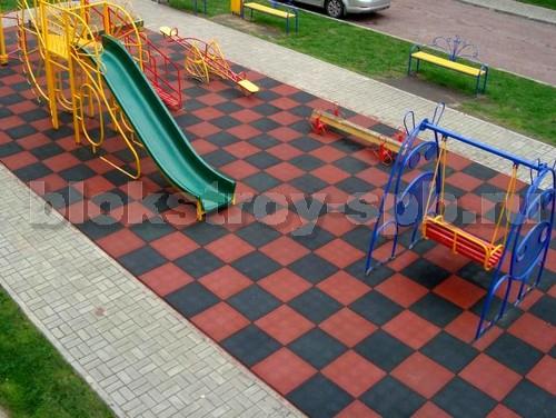 """Детская площадка мощеная плиткой """"Сетка"""""""