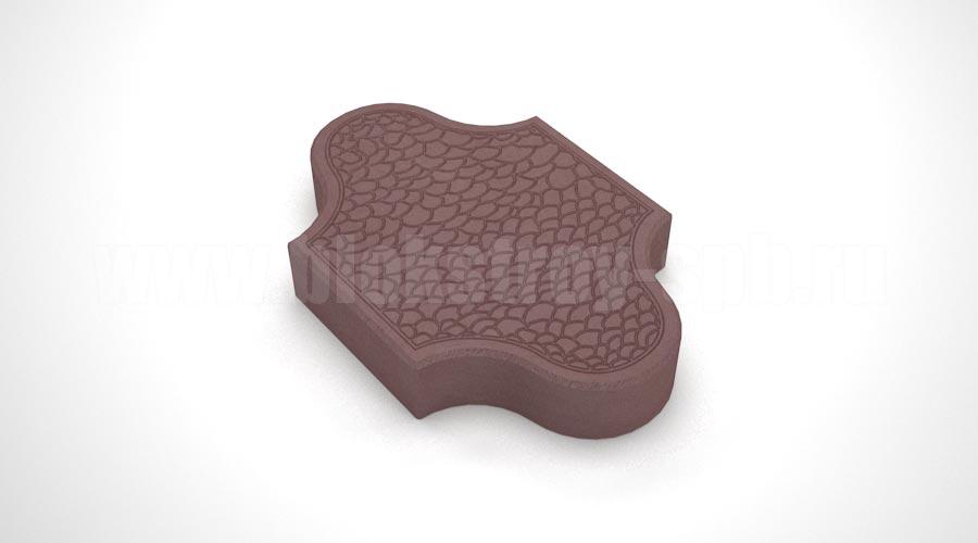 Тротуарная плитка «Pокко» коричневая