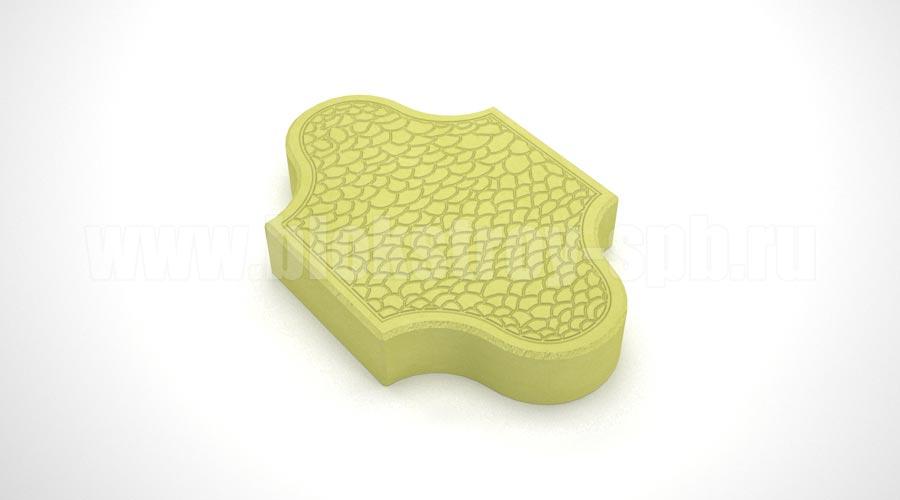 Тротуарная плитка «Pокко» желтая