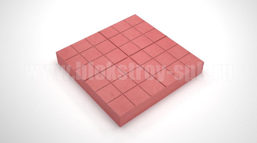 Тротуарная плитка «Сетка» красная