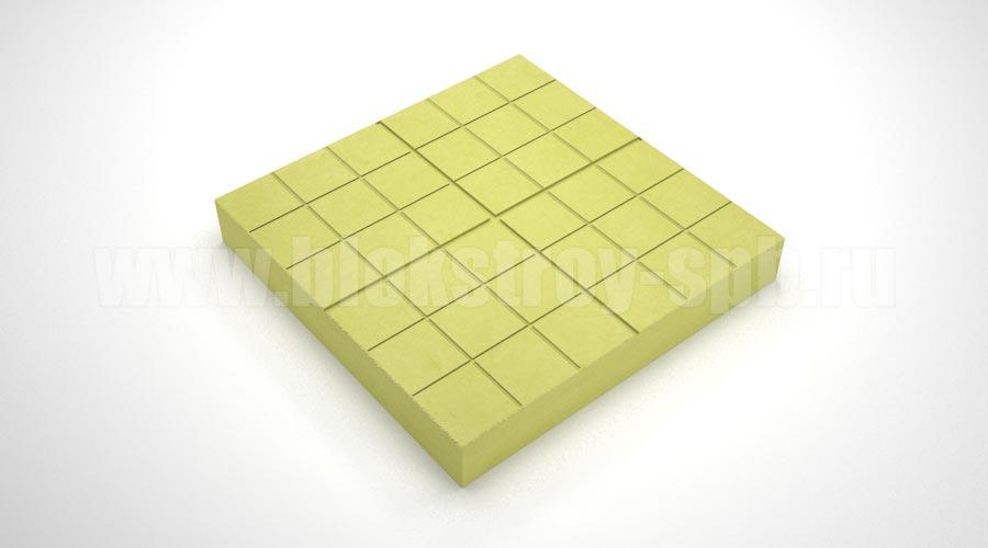 """Тротуарная плитка """"Сетка"""" желтая"""
