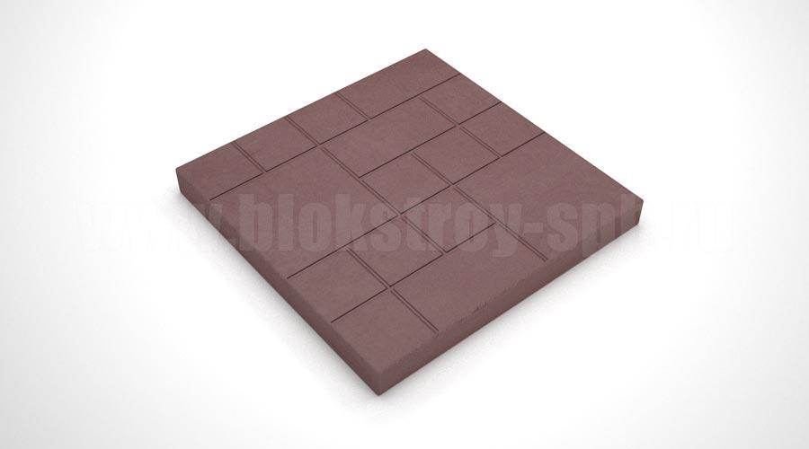 """Тротуарная плитка """"Шоколадка"""" коричневая"""