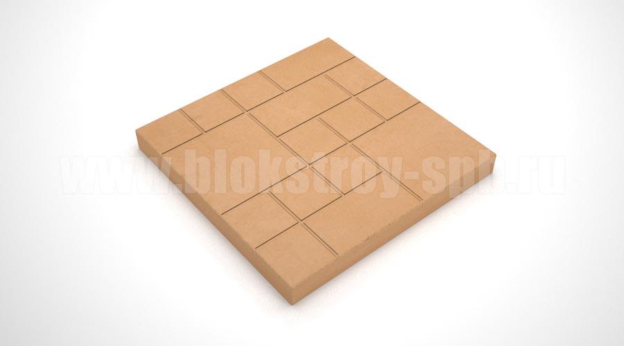 """Тротуарная плитка """"Шоколадка"""" оранжевая"""