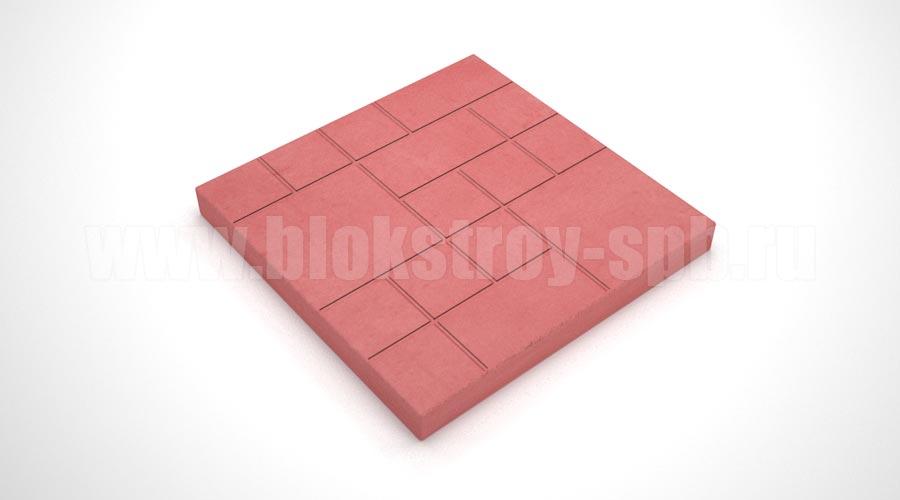 """Тротуарная плитка """"Шоколадка"""" красная"""