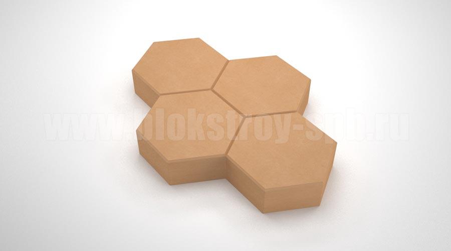 """Тротуарная плитка """"Соты"""" оранжевая"""