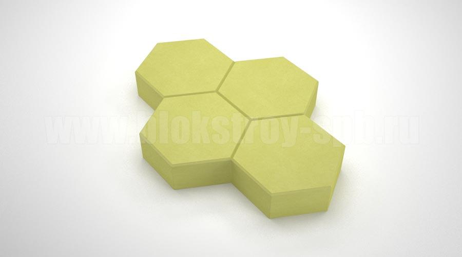 "Тротуарная плитка ""Соты"" жёлтая"